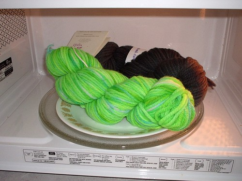 Microwaving Yarn
