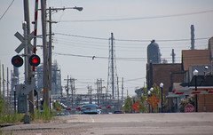 out by the gas fires of the refinery (reallyboring) Tags: unitedstates indiana bp refinery whiting in