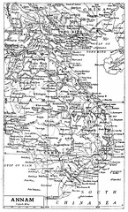 Map of Annam 1906 (Vietnam)