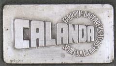 Calanda S typewriter logo