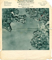 Plymouth Sound : Jan 1942 (Plymouth History) Tags: cornwall map aircraft nazi plymouth aerial devon photograph german target bomb blitz bombing reich devonport secondworldwar stonehouse luftwaffe plymstock saltash torpoint