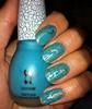 Laushine crackle/shatter polish in turquoise. (SuzanneM7) Tags: gold nailpolish sha shatter nailvarnish layered chinaglaze silvershatter foilfinish bornprettystorecrackle