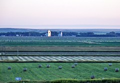 SKSW11gAN Val Marie Prairie View, Saskatchewan (CanadaGood) Tags: morning blue canada color colour building green dawn farm wheat sk prairie hay saskatchewan agriculture grainelevator 2011 valmarie canadagood thisdecade