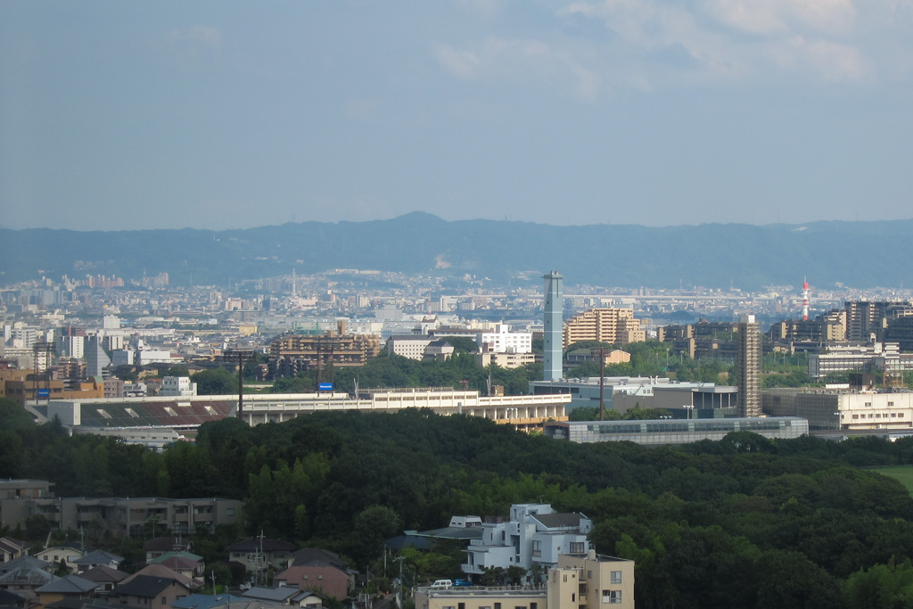 view from the hospital room of Osaka University Hospital