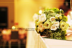 You and Me babe... (NJ Stevenson|ebbystouch.com) Tags: flowers wedding green yellow iso3200 lowlight bokeh reception decor monts tamronspaf2875mmf28xrdildasphericalif photoscape 580ex2