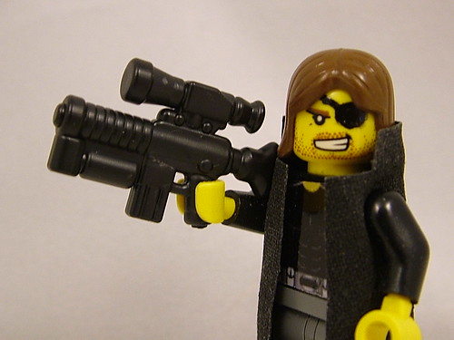 Custom minifig BrickArms at Brickfair 2011 - Coreburner Prototype