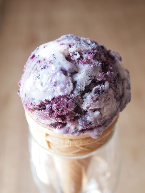 homemade blueberry ice cream
