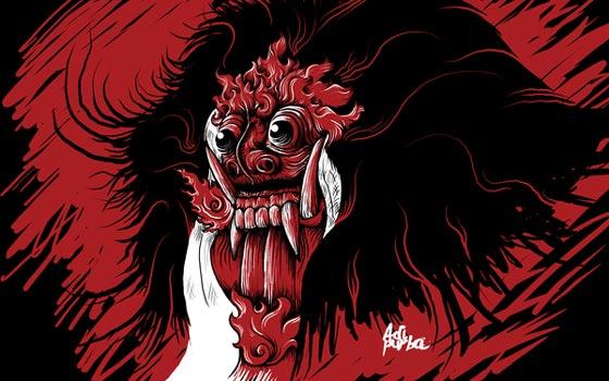 dibujos de un artista de Indonesia