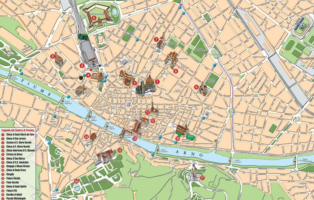 Mapa Florença