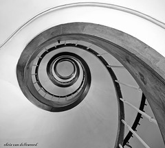 the eye (explore) (*Chris van Dolleweerd*) Tags: abstract france eye stairs canon spiral pov sigma staircase 7d frankrijk trap spiraal oog sigma1020mm trappen trappenhuis uriage canon7d chrisvandolleweerd