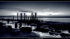 Port Wilunga - Black and White.jpg (AussieShogun) Tags: sunset wallpaper hdr portwilunga