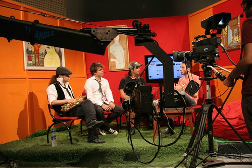 MR Sax, Viero and Neyman at Canal 15 UCR