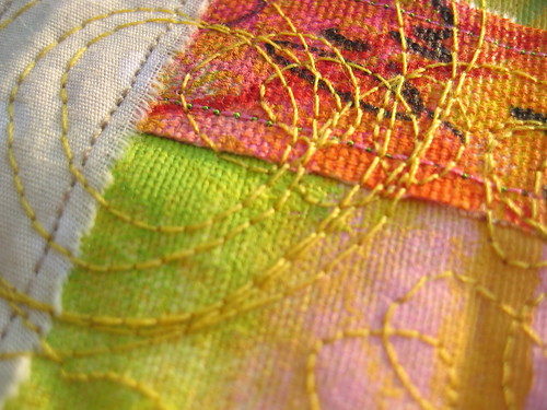 Painted & sewn - detail 1