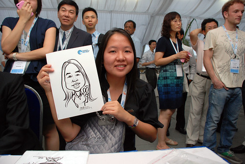 caricature live sketching for Singapore International Water Week Closing Dinner - 4