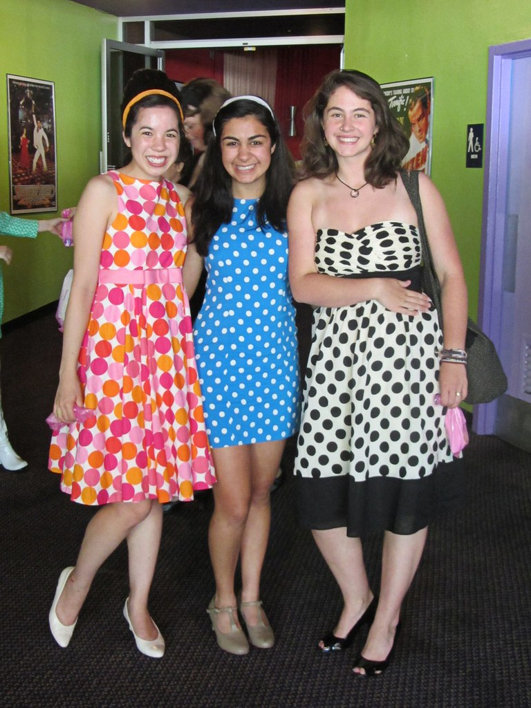 Me and the girls karina and lena decked out in our polka dots