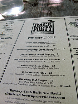 back forty menu