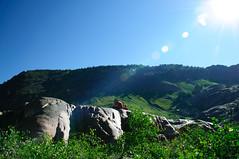 Overlooking Lake Blanche