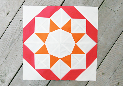 Summer Sampler Series : Kansas Dust Storm Quilt Block