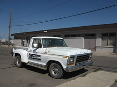 white ford truck f100 f150 1979 stepside flareside