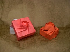 Rose boxes (or(EST)igami) Tags: flower rose paper origami boxes han shin gyo