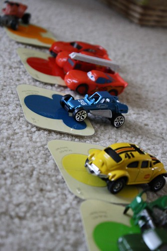 Cars and Colors Activity (Photo by Julie at The Adventures of Bear)