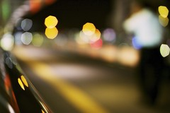 it's been a long and hot day (alternate title - the tractor beam of bokeh) (StephenCairns) Tags: japan businessman night trainstation pedestrianwalkway 30mmsigmaf14 gifucity canon50d  wenttothecitywiththeintenttoshootbokehshotsyouwillseealotoftheseoverthenextweek