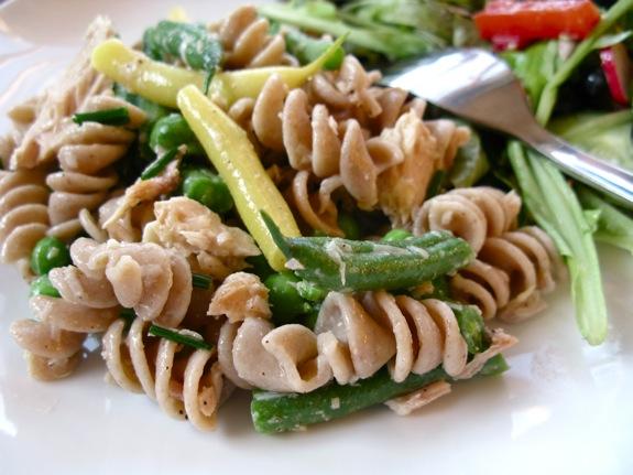 green bean tuna pasta salad 003
