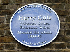 Photo of Harry Cole blue plaque