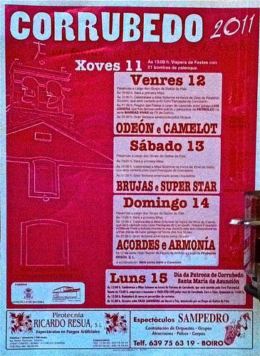 Ribeira 2011 - Festas do verán en Corrubedo - cartel