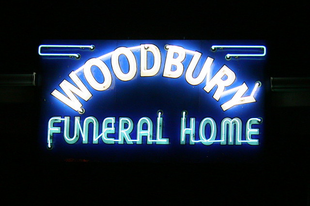 Woodbury Funeral Home (nighttime)