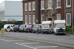Outside the original Vauxhall offices (duncanamps) Tags: bedford bedfordshire luton bedfordbambi bedfordrascal derekfox clairegreen rascalenthusiasts 201108luton