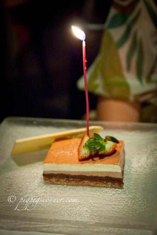 Otto Ristorante, Singapore-cake