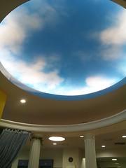 橋本図書館で見る青空の写真