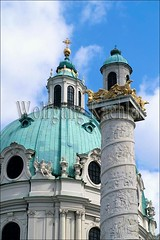 40038437 (wolfgangkaehler) Tags: vienna roof detail building rooftop church architecture buildings austria europe architecturaldetail columns unescoworldheritagesite worldheritagesite column baroque karlskirche roofdesign