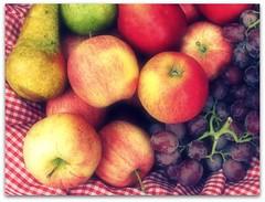 (Holly Macro) Tags: apple fruit basket pear grape musictomyeyeslevel1