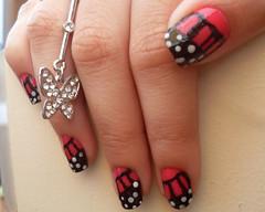 asa de borboleta (: (lorenacostasz) Tags: art butterfly nails borboleta asa unhas esmalte