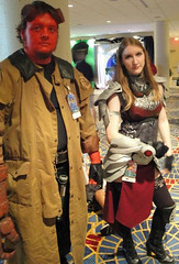 Hellboy and Chandra (KrystalClaxton) Tags: costume cosplay magic convention gathering hellboy dragoncon chandra bprd