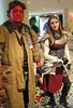 Hellboy and Chandra (KrystalClaxton) Tags: costume cosplay magic convention gathering hellboy dragoncon chandra bprd