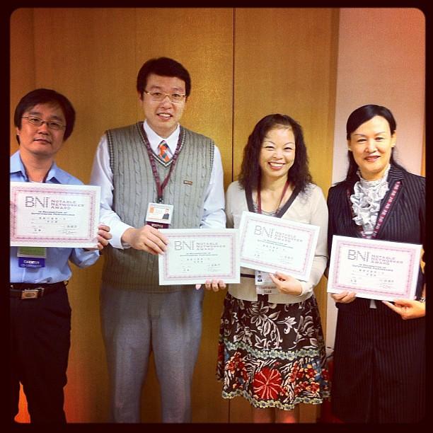 BNI長勝分會,2011.09來賓與引薦最多的會員