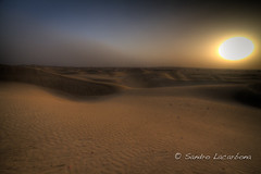 Sunset at the Thar desert HDR (Sandro_Lacarbona) Tags: voyage trip travel sunset sun india set soleil sand sam desert dune sable backpacker hdr sandro jaisalmer thar rajasthan inde désert couché routard tourdumonde tetedechatcom lacarbona