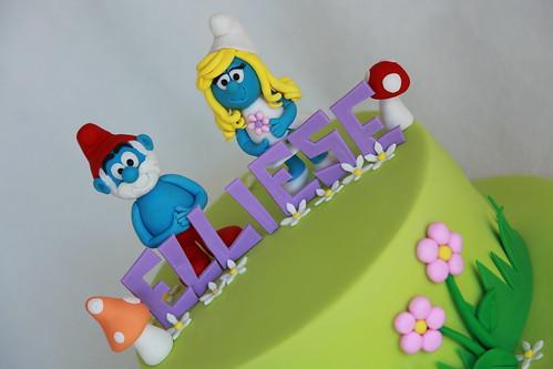 Elliese's Smurfs Cake