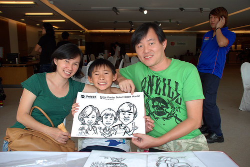 Caricature live sketching for Sime Darby Select Open House Day 2 - 29