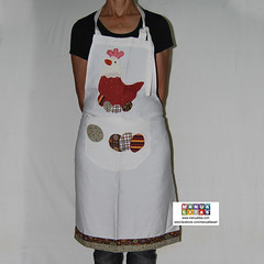 Apron patchwork design hen with eggs (Manualitas) Tags: handmade craft apron patchwork hen artesania gallina delantal manualidad davantal