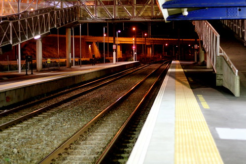Tuesday: Late, & drunk, at Petone Station