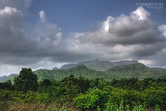 I too saw the monsoon! (Yogendra174) Tags: blue trees mountain color green nature clouds canon monsoon joshi 18mm yogendra canonrebelxs mumbaipunehighway