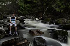 Self Portrait (Ethan Girard) Tags: portrait creek self waterfall nikon long exposure falls chase shuswaps d90