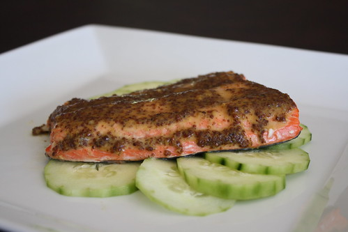 Mustard Glazed Roast Salmon