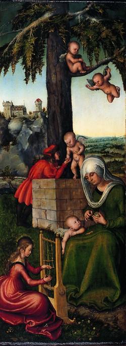 Lucas Cranach l'Ancien, L'Education de la Vierge Marie (1510-1512)