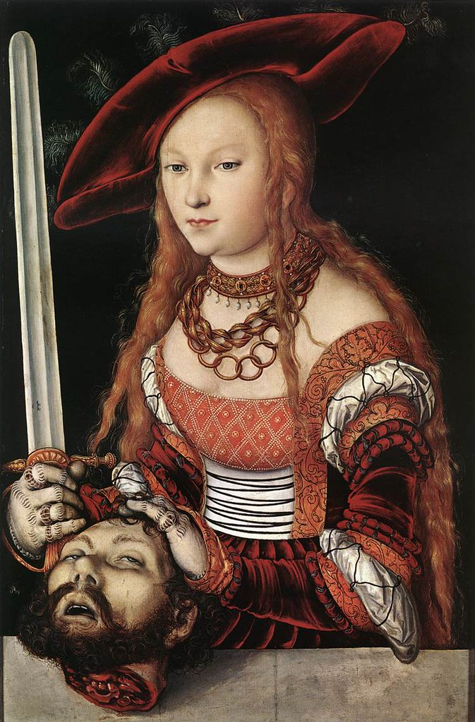 Lucas Cranach L'Ancien, Judith tenant la tête d'Holopherne (1530)