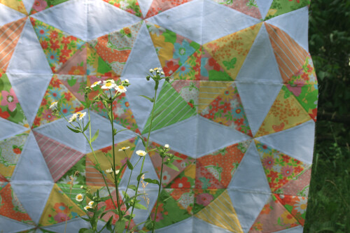 kaleidoscope quilt top